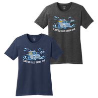 Bulldogs Swim & Dive Ladies Heathered Tee