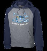 Bulldogs Swim & Dive Raglan Colorblock Hoodie
