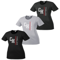 Cuyahoga Heights Softball Ladies Performance Tee