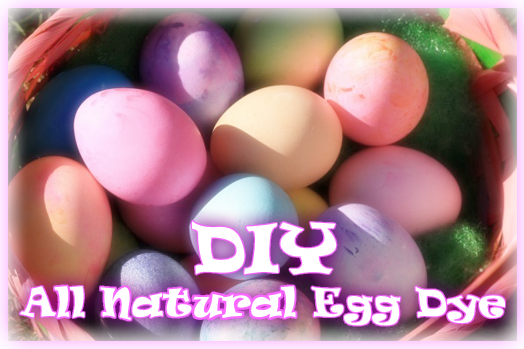 DIY all natural egg dye
