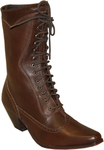 Victorian Lace Up - Brown