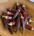 WHOLESALE Red Burgundy Okra-1 Pound