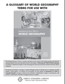A Glossary of World Geography Terms for Use with Mastering the TEKS in World Geography