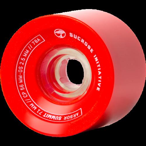 Arbor Summit Red Wheels - 71mm 78a
