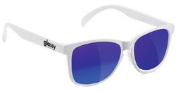 Glassy Deric Sunglasses - White/Blue Mirror