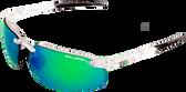 Bullhead Swordfish, Green Mirror Lens, Crystal Clear Frame (BH10116AF)