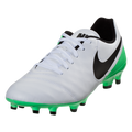 Nike Tiempo Genio II Leather FG - White/Black/Electro Green(41917)