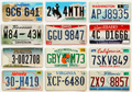 12 License Plates in Very Good Condition.
