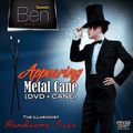 Appearing Metal Cane with DVD (Black) by Taiwan Ben Magic