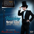 Vanishing Metal Cane with DVD (Black) by Taiwan Ben Magic