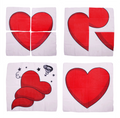 Comic Heart Scarf Set by JL Magic