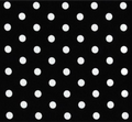 """9"""" Spotted Silk (Black with white dots)"""