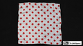 21 Inch Production Silk (White with Red Dots) by Mr. Magic
