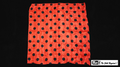 21 Inch Polka Dot Silk (Red with Black Dots) by Mr. Magic