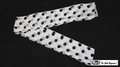6 Inch by 18 Feet Production Streamer (White with Black Dots)