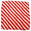 "18"" Red and White Zebra Silk by Uday Magic"