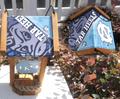 Carolina Tar Heel License Plate Roof Bird Feeder (SI Series)