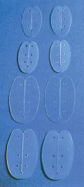 Bivalve Nasal Splint, various sizes & thickness, fluoroplastic
