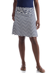 Bamboo Dreams® Short Skirt - Navy Chevron