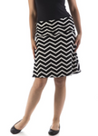 Bamboo Dreams® Short Skirt - Black Natural Chevron