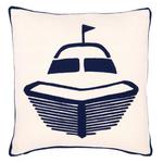 Fresh American Boat Navy Indoor/Outdoor Pillow