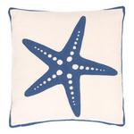 Fresh American Starfish Denim Indoor/Outdoor Pillow