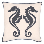 Fresh American Sea Horse Graphite Indoor/Outdoor Pillow