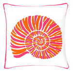 Fresh American Nautilus Fuchsia Indoor/Outdoor Pillow