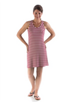 Bamboo Dreams® Tessa Tunic - Scarlet / Natural Stripe