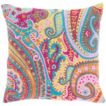 Pine Cone Hill Lyric Paisley Embroidered Decorative Pillow