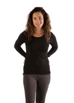BambooDreams® Natalie Long Sleeve Top - Black