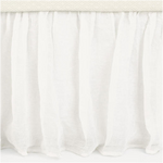 PINE CONE HILL SAVANNAH LINEN GAUZE IVORY BED SKIRT