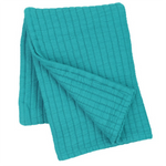 Pine Cone Hill Boyfriend Peacock  Matelassé Throw