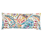 Pine Cone Hill Amelie White Embroidered Oblong Decorative Pillow