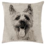 Fresh American Terrier Natural Decorative Pillow