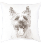 Fresh American Terrier White Decorative Pillow