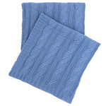 Pine Cone Hill Comfy Cable Knit French Blue Throw