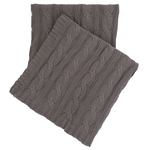 Pine Cone Hill Comfy Cable Knit Shale Throw