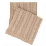 Pine Come Hill Comfy Cable Knit Linen Throw