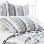 Pine Cone Hill Hampton Ticking Linen Indigo Pillow Sham