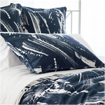 Pine Cone Hill Brushstroke Indigo/White Pillow Sham