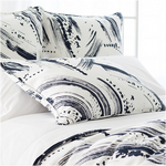 Pine Cone Hill Brushstroke White/Indigo Pillow Sham