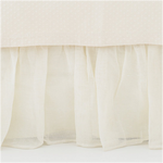 Pine Cone Hill Linen Mesh Ivory Bed Skirt