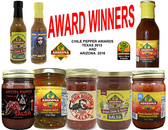 Our Best Award Winning Products in one order.  It is all about the flavor.  all Natural.  Sweet and Spicy to extreme heat.
