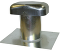 "Galvanized  4"" Roof Cap with Special 10"" Clearance     (JV428 10CL)"