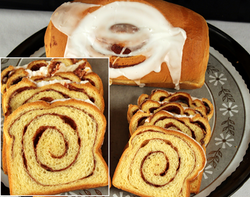 Cinnamon Swirl Bread With Icing