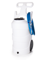 10 GAL PORTABLE FOAM UNIT-NATURAL-SANTO-BLUE LID