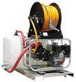 RCS/G1050HU, Pro-ATV Series, Roll Cage Skid Power Unit - Chemical Sprayer, 10.0 GPM,  500 PSI,  GX200 Honda, Udor Gear Drive Pump