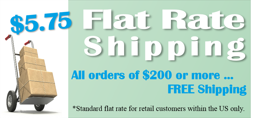 Flat Rate Shipping $5.75