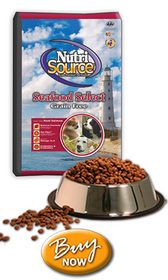 Nutrisource Grain Free Seafood Salmon Dog Food, 30 lb.